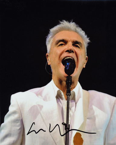 DAVID BYRNE SIGNED 8X10 PHOTO TALKING HEADS 2