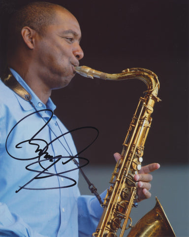 BRANFORD MARSALIS SIGNED 8X10 PHOTO