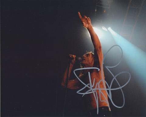 IGGY POP SIGNED 8X10 PHOTO