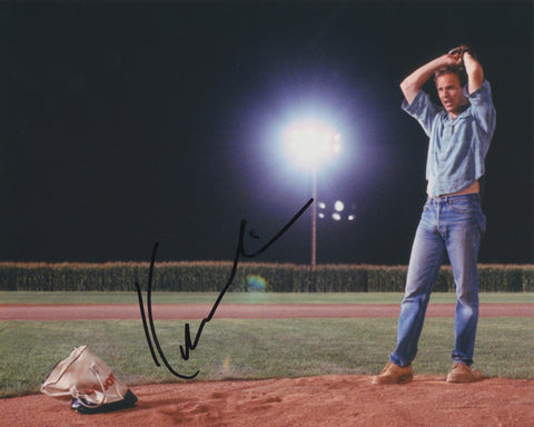 KEVIN COSTNER SIGNED FIELD OF DREAMS 8X10 PHOTO