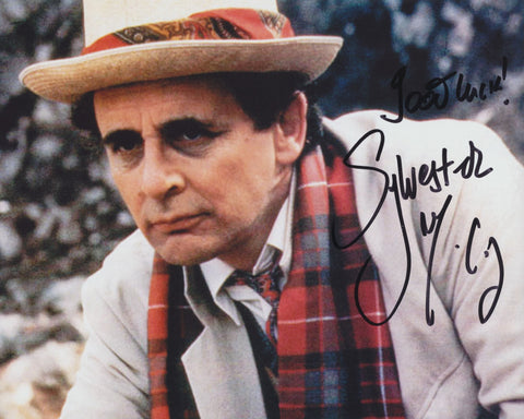 SYLVESTER MCCOY SIGNED DR WHO 8X10 PHOTO
