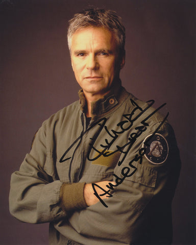 RICHARD DEAN ANDERSON SIGNED STARGATE SG-1 8X10 PHOTO