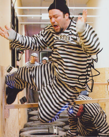 BAM MARGERA SIGNED JACKASS 8X10 PHOTO 4