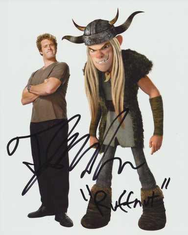 T.J MILLER SIGNED HOW TO TRAIN YOUR DRAGON 8X10 PHOTO 2