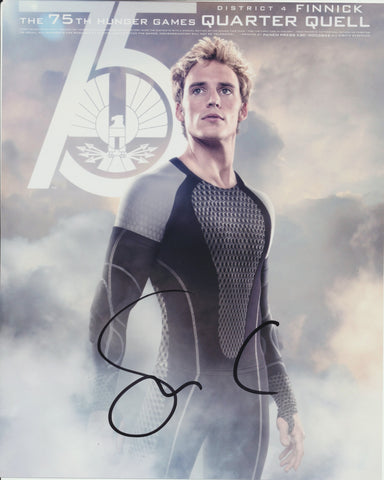 SAM CLAFLIN SIGNED THE HUNGER GAMES 8X10 PHOTO