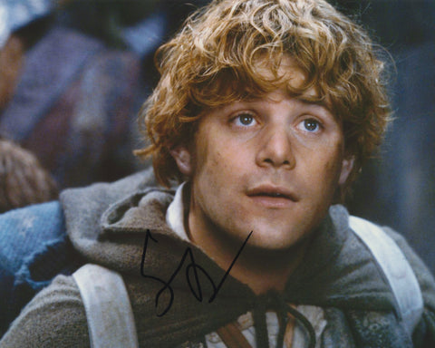 SEAN ASTIN SIGNED LORD OF THE RINGS 8X10 PHOTO 2