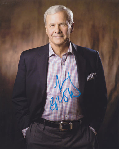 TOM BROKAW SIGNED NBC NIGHTLY NEWS 8X10 PHOTO 4