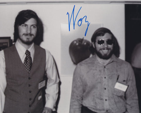 STEVE WOZNIAK SIGNED APPLE COMPUTER 8X10 PHOTO 5