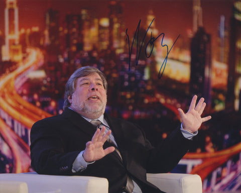 STEVE WOZNIAK SIGNED APPLE COMPUTER 8X10 PHOTO 6