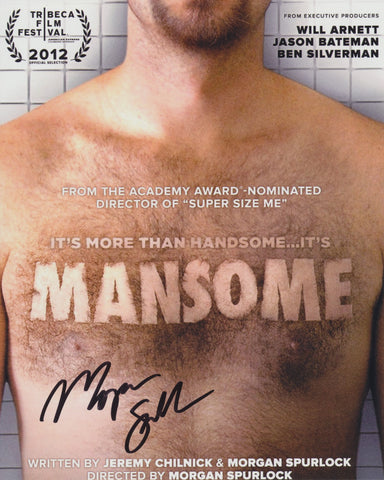 MORGAN SPURLOCK SIGNED MANSOME 8X10 PHOTO