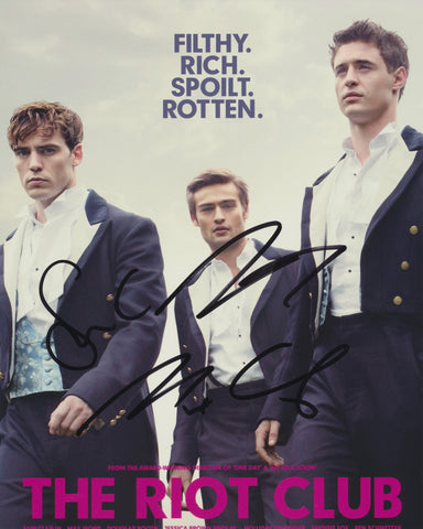 SAM CLAFLIN, DOUGLAS BOOTH AND MAX IRONS SIGNED THE RIOT CLUB 8X10 PHOTO