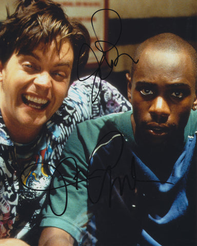 DAVE CHAPPELLE AND JIM BREUER SIGNED HALF BAKED 8X10 PHOTO