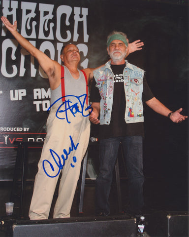 CHEECH AND CHONG SIGNED 8X10 PHOTO