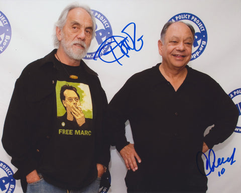 CHEECH AND CHONG SIGNED 8X10 PHOTO 2