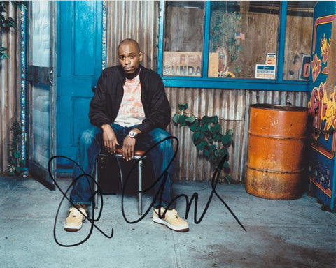 DAVE CHAPPELLE SIGNED 8X10 PHOTO 2
