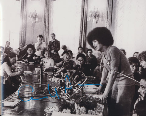 ANGELA DAVIS SIGNED CIVIL RIGHTS ACTIVIST 8X10 PHOTO 4