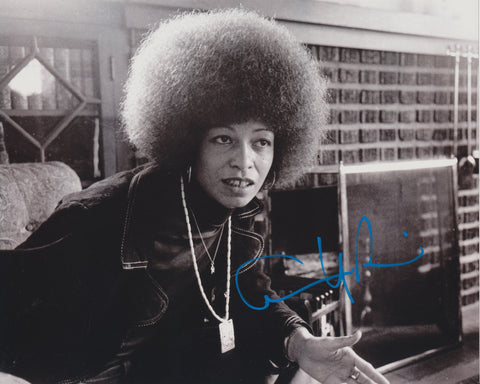 ANGELA DAVIS SIGNED CIVIL RIGHTS ACTIVIST 8X10 PHOTO 5