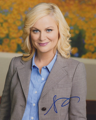 AMY POEHLER SIGNED PARKS AND RECREATION 8X10 PHOTO