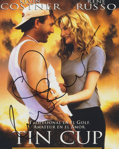 RENE RUSSO SIGNED TIN CUP 8X10 PHOTO 2