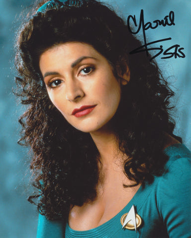 MARINA SIRTIS SIGNED STAR TREK 8X10 PHOTO