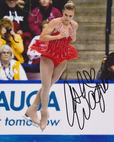 ASHLEY WAGNER SIGNED FIGURE SKATING 8X10 PHOTO