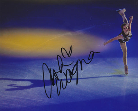 ASHLEY WAGNER SIGNED FIGURE SKATING 8X10 PHOTO 3