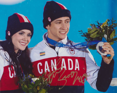 TESSA VIRTUE & SCOTT MOIR SIGNED 2014 OLYMPIC FIGURE SKATING 8X10 PHOTO