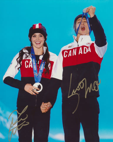 TESSA VIRTUE & SCOTT MOIR SIGNED 2014 OLYMPIC FIGURE SKATING 8X10 PHOTO 2