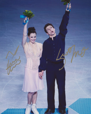 TESSA VIRTUE & SCOTT MOIR SIGNED 2014 OLYMPIC FIGURE SKATING 8X10 PHOTO 3