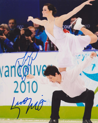 TESSA VIRTUE & SCOTT MOIR SIGNED 2010 OLYMPIC FIGURE SKATING 8X10 PHOTO