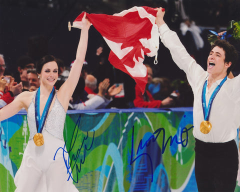 TESSA VIRTUE & SCOTT MOIR SIGNED 2010 OLYMPIC FIGURE SKATING 8X10 PHOTO 4