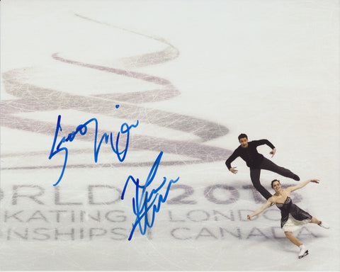 TESSA VIRTUE & SCOTT MOIR SIGNED FIGURE SKATING 8X10 PHOTO 3