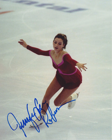 JENNIFER ROBINSON SIGNED FIGURE SKATING 8X10 PHOTO