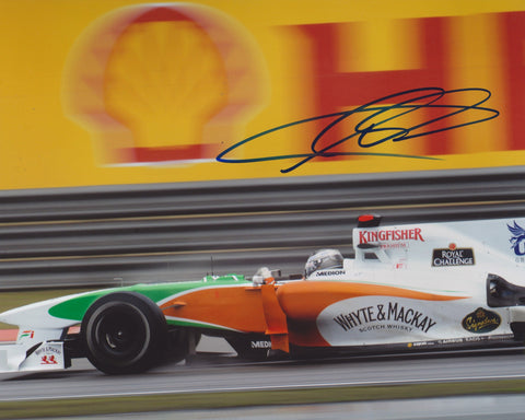 ADRIAN SUTIL SIGNED FORCE INDIA F1 FORMULA 1 8X10 PHOTO 3