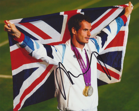 ANDY MURRAY SIGNED ATP TENNIS 2012 LONDON OLYMPICS 8X10 PHOTO 2