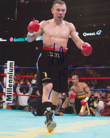 KOSTYA TSZYU SIGNED BOXING 8X10 PHOTO