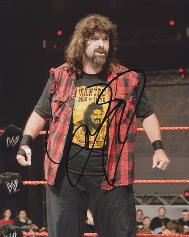 MICK FOLEY SIGNED WWE WWF 8X10 PHOTO