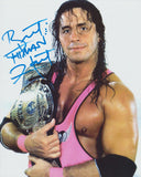 BRET THE HITMAN HART SIGNED WWE WWF 8X10 PHOTO 5