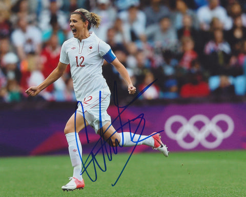CHRISTINE SINCLAIR SIGNED TEAM CANADA 2012 OLYMPICS 8X10 PHOTO