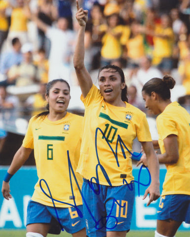 MARTA VIEIRA DA SILVA SIGNED TEAM BRAZIL 8X10 PHOTO 3