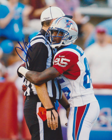 CHAD JOHNSON SIGNED MONTREAL ALOUETTES 8X10 PHOTO