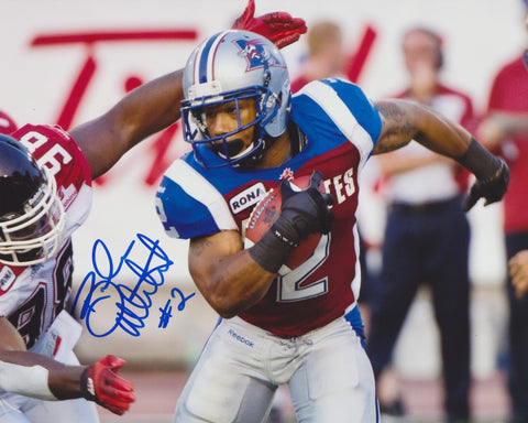 BRANDON WHITAKER SIGNED MONTREAL ALOUETTES 8X10 PHOTO 2