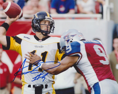 ANWAR STEWART SIGNED MONTREAL ALOUETTES 8X10 PHOTO 2