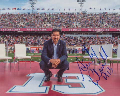 ANTHONY CALVILLO SIGNED MONTREAL ALOUETTES 8X10 PHOTO