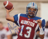 ANTHONY CALVILLO SIGNED MONTREAL ALOUETTES 8X10 PHOTO 2