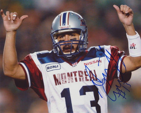 ANTHONY CALVILLO SIGNED MONTREAL ALOUETTES 8X10 PHOTO 3