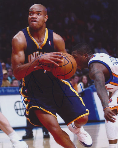 JARRETT JACK SIGNED INDIANA PACERS 8X10 PHOTO 2