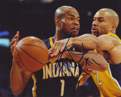 JARRETT JACK SIGNED INDIANA PACERS 8X10 PHOTO 3