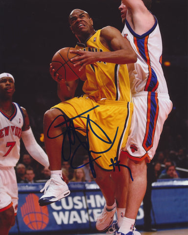 JARRETT JACK SIGNED INDIANA PACERS 8X10 PHOTO 4