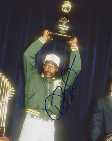 DAVE STEWART SIGNED OAKLAND ATHLETICS 8X10 PHOTO